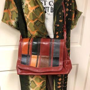 70s Vintage Color-block purse